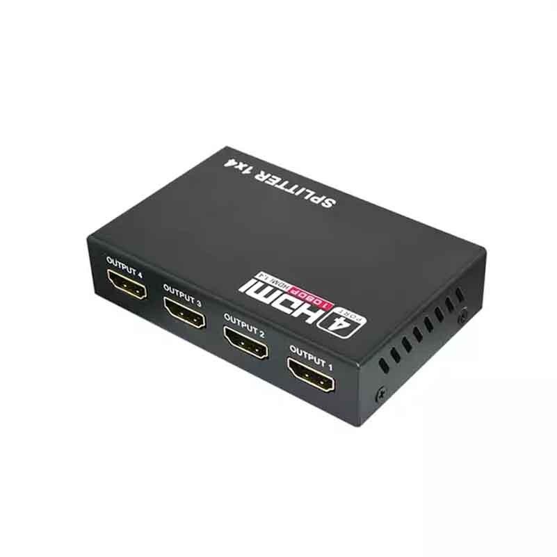 Hdmi 1/4 出力 3D 1080 1080p 5.1 5gbps 1 × 4 4 ポートフルデジタル Konverter 供給高精細 -    グループ上の パソコン & オフィス からの パソコン ケーブル & コネクタ の中