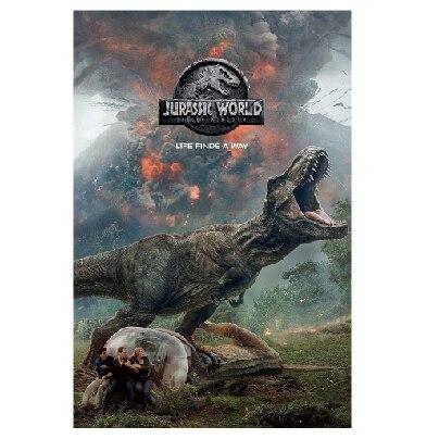 New Custom Silk Poster Wall Decor Jurassic World Fallen Kingdom