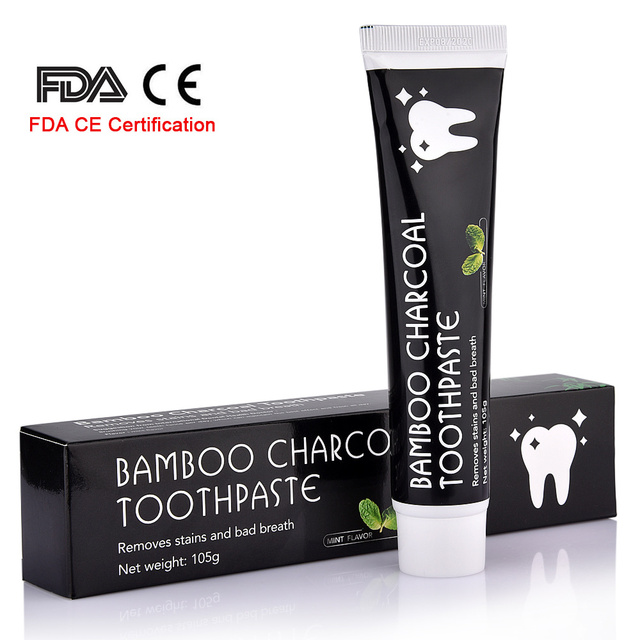 Natural Activated Charcoal Teeth Whitening Toothpaste FDA CE Certification