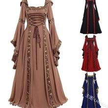 Средневековое платье Ренессанса Готический женский стиль корта с длинным рукавом и капюшоном халат костюм для женщин
