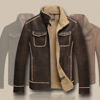 New 2016 sheepskin wool men's coat and jacket thickening fur genuine leather male winter outerwear clothing xxl xxxl 2xl 3xl