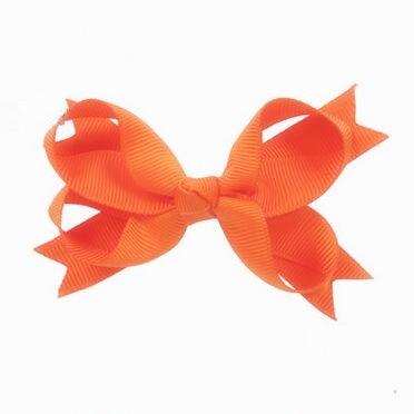 100pcs lot Hair Bows with Clips Woman Girls Fashion Hair accessories Tangerine Orange