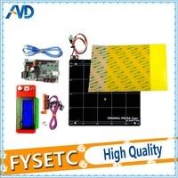 Reprap Prusa I3 MK2 3d Printer Mini Rambo 1 3A Motherboard Kit Yellow PEI 0 3mm