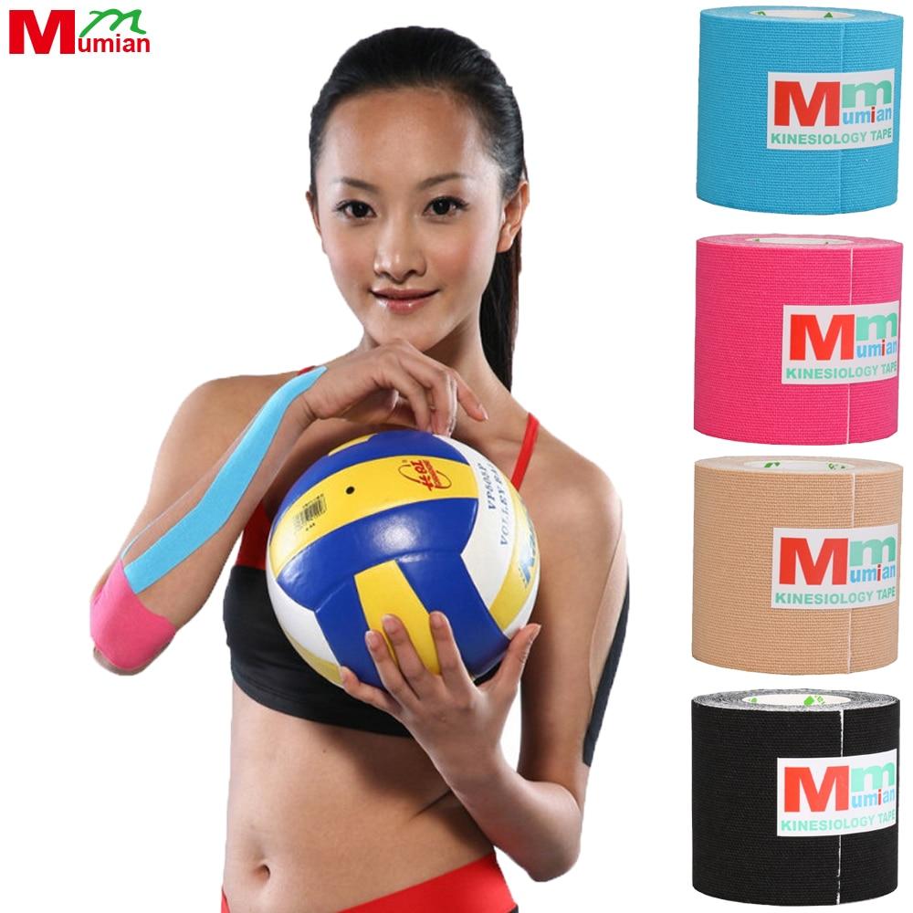 5 cm * 5 mt Kinesio Tape Kinesiologie Band Baumwolle Elastic Band Sport Bandrolle Pflege Kniebandage unterstützung ohne Fall