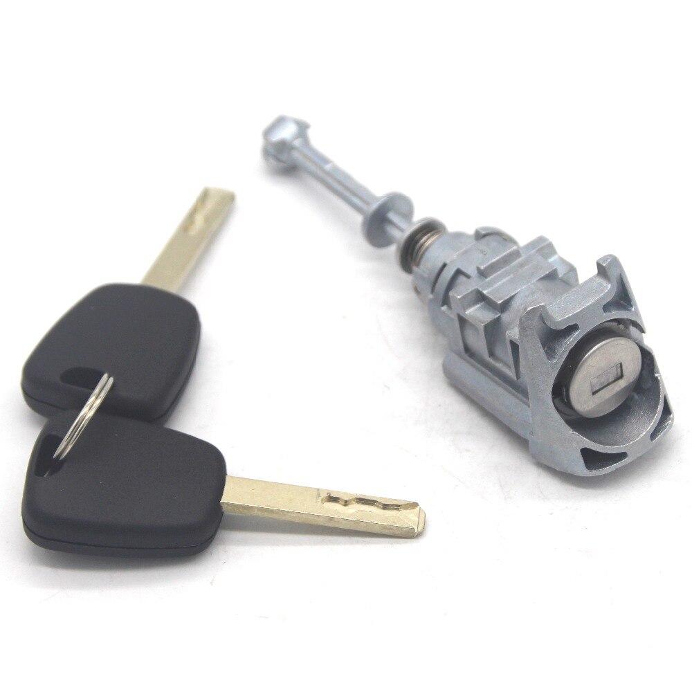 Cilindro de cerradura de puerta izquierda delantera barril con 2 llaves para Citroen C4 2004-2008 Picasso 2006-2008 C-QUATRE