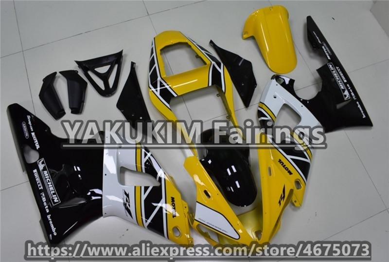 مجموعة أدوات انسيابية حقن ABS من ياكوكيم لياماها YZF R1 00-01 سنة 2000 2001 YZFR1 00 01 YZF1000 00 01 انسيابية دراجة نارية جديدة