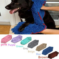 Pet Water Absorption Bath Towel Long Haired Dog Bathe Quick Drying Towels