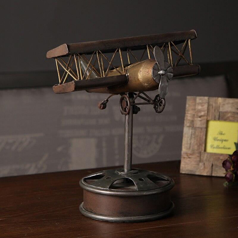 American Retro старый Утюг Art Истребитель модель украшения showroom кафе-бар мебели украшения