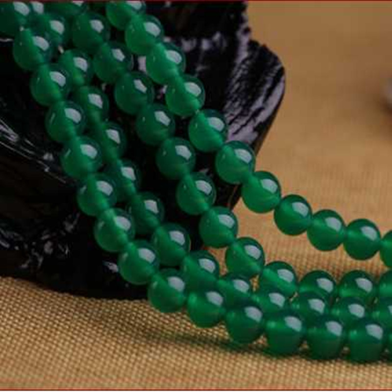 Strand Bracelets Green Agates Natural Stone Onyx Round Loose Beads For Jewelry Making Diy Handmade Bracelet 6/8/10/12mm 15 Inch/strand Jewelry & Accessories