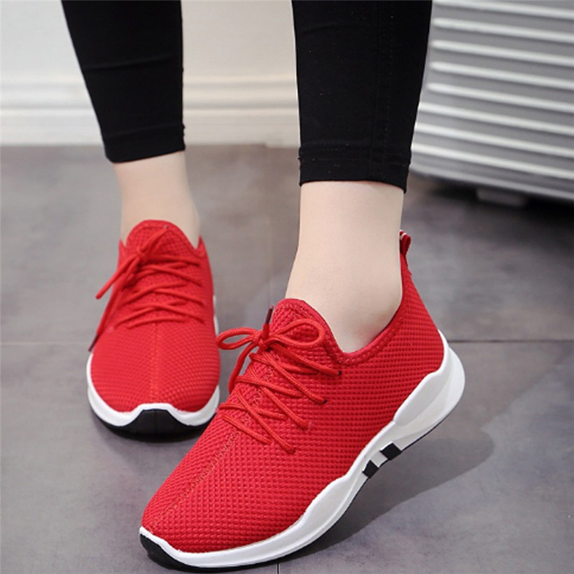 Running Shoes For Women Lace-up Running Sneakers Breathable Mesh Women Fitness Gym Sports