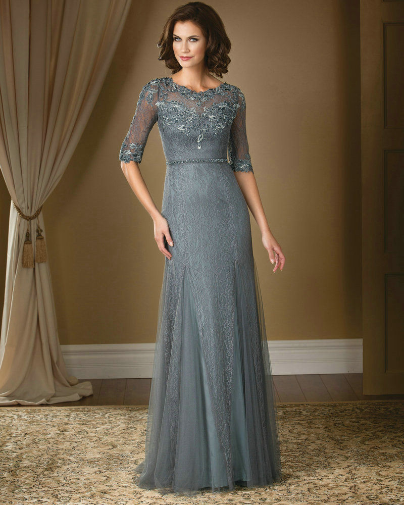 Wedding Dresses For Grandma : Lace dresses half sleeves grandmother gowns china mainland
