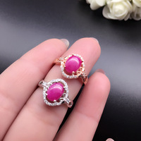 2018 new fashion gemstone ring natural blood red ruby silver ring solid 925 silver ruby ring romantic gift for girlfriend