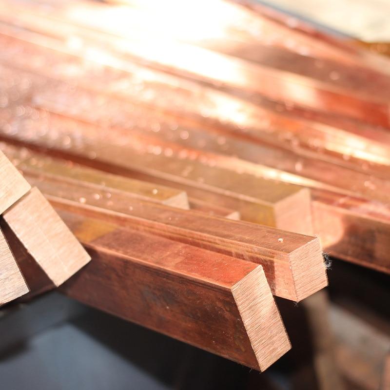 1PCS CA015 Copper Row 8mm*50mm*100mm Copper Stick Free Shipping Sell at a Loss T2 Copper Bar Copper Billet TMY Copper Block air conditioning copper copper head thickening copper nano copper nut metricinch 8mm