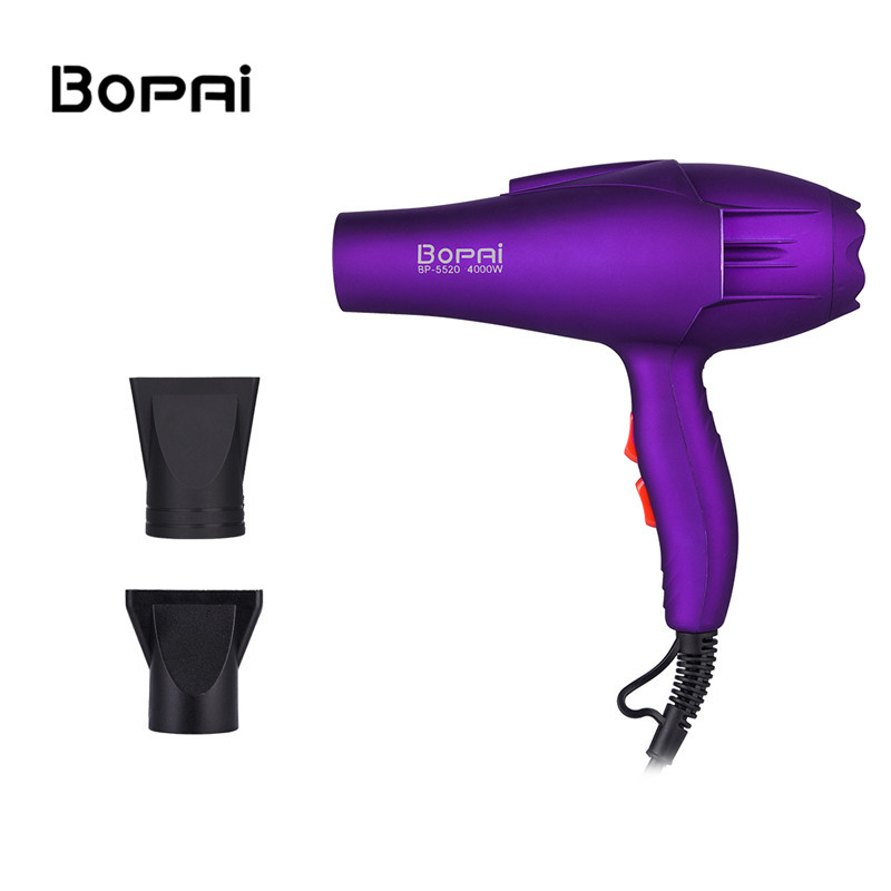 4000W Professional Anion Hair Dryer Blow Hairdryer Hot And Cold Wind+2 Free Nozzles Fast Styling Blower Dryers For Hair Salons 4000w fast dry hair dryer diffuser hot