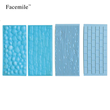 Facemile 4Pcs/set Fondant Impression Mat Sugarcraft Decorating Tool Gumpaste Embosser Fondant Decoration Gift ZH014