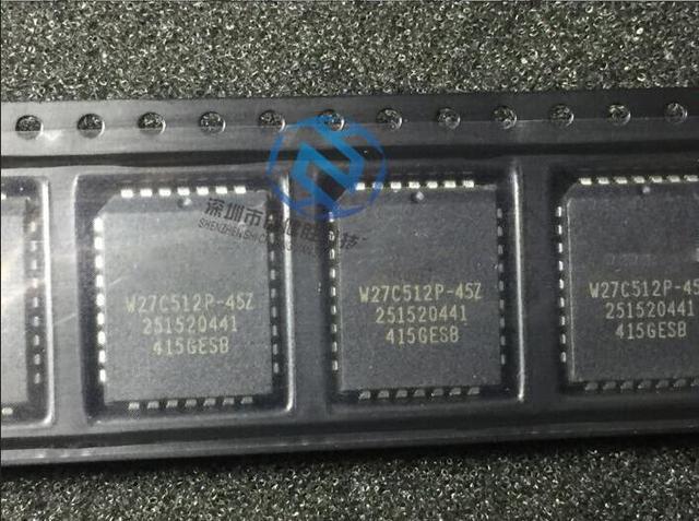 الأصلي 20 قطعة/الوحدة W27C512P 45Z W27C512P 45 W27C512P 27c512 plcc في magazzino