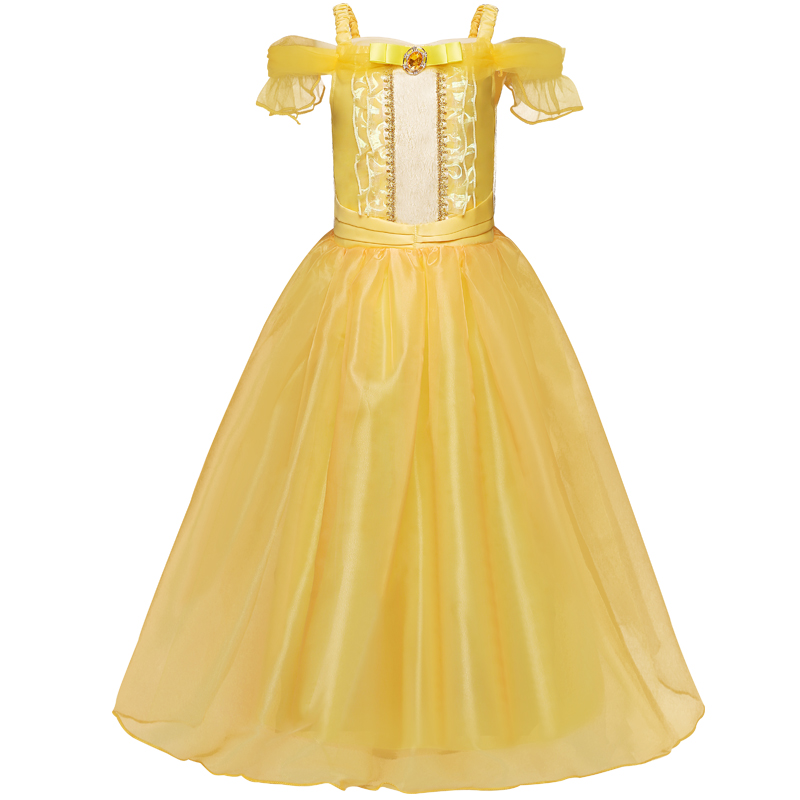 Cartoon Dressing Gown: Kids Dresses For Girl Party Wear Clothes Princess Girl