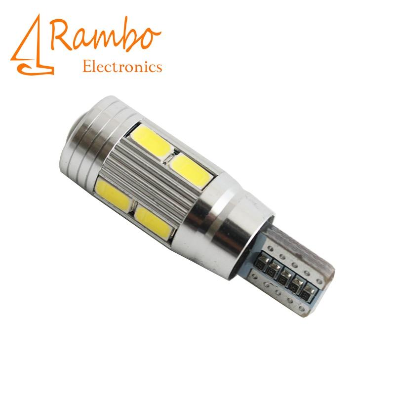 Car Auto LED T10 194 W5W Canbus 10 SMD 5630 5730 LED Light Bulb No error led parking Fog light Auto No Error univera car light