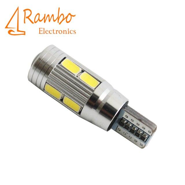 4 x Car Auto LED T10 194 W5W Canbus 10 SMD 5630 5730 LED Light Bulb No error led Clearance Lights for Car