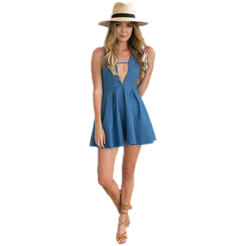Popular Strapless Denim Dress-Buy Cheap Strapless Denim Dress lots ...