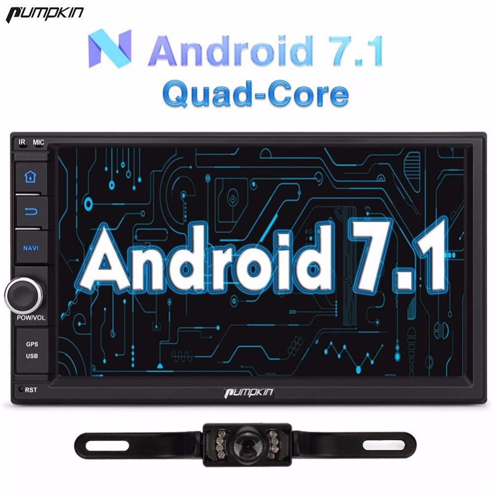 pumpkin 7 inch 2 din android 7 1 univeral car dvd player. Black Bedroom Furniture Sets. Home Design Ideas
