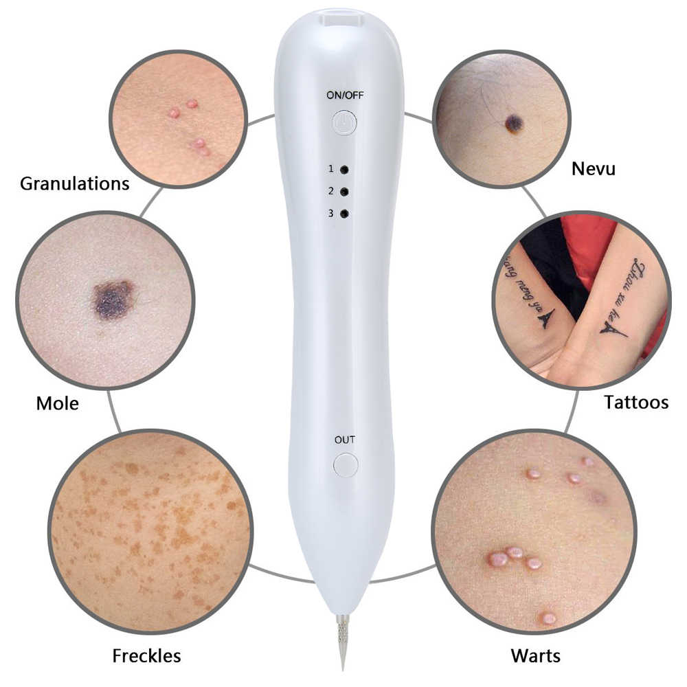 beauty star tattoo mole removal plasma pen laser facial freckle dark spot remover tool wart removal  [ 1000 x 1000 Pixel ]