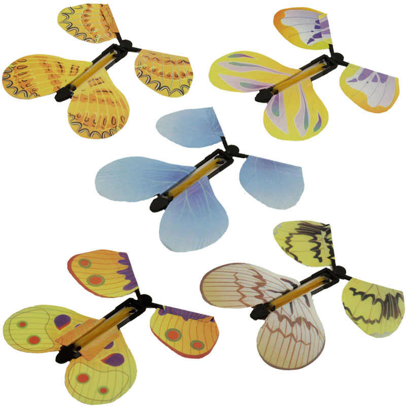 5pcs Magic Toys Hand Transformation Fly Butterfly Magic Tricks Props Funny Novelty Surprise Prank Joke Mystical Fun Classic Toys