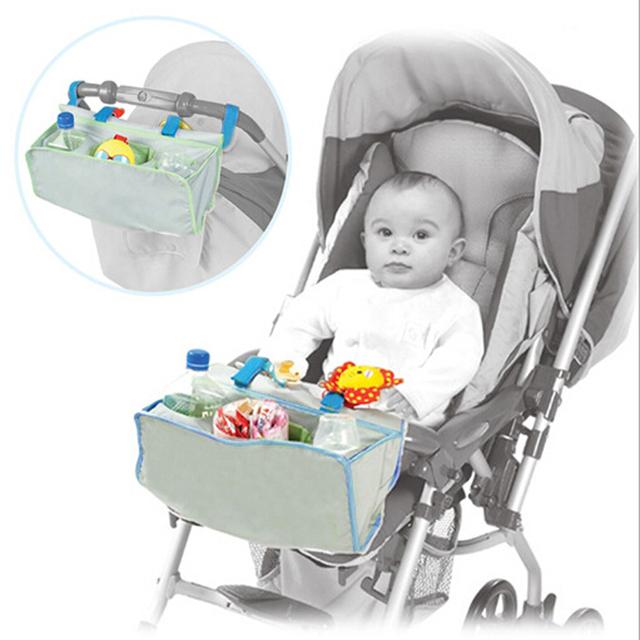 Carro de bebé cochecito diseñado bolsillos impermeable carro de la compra bolsa de Cochecito de Bebé cesta bolso práctico bolsillo frontal Organizadores Bolsa Cesta