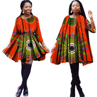 New 2019 Summer African dresses for women bazin rich robe africaine clothing loose style knee length africa dress