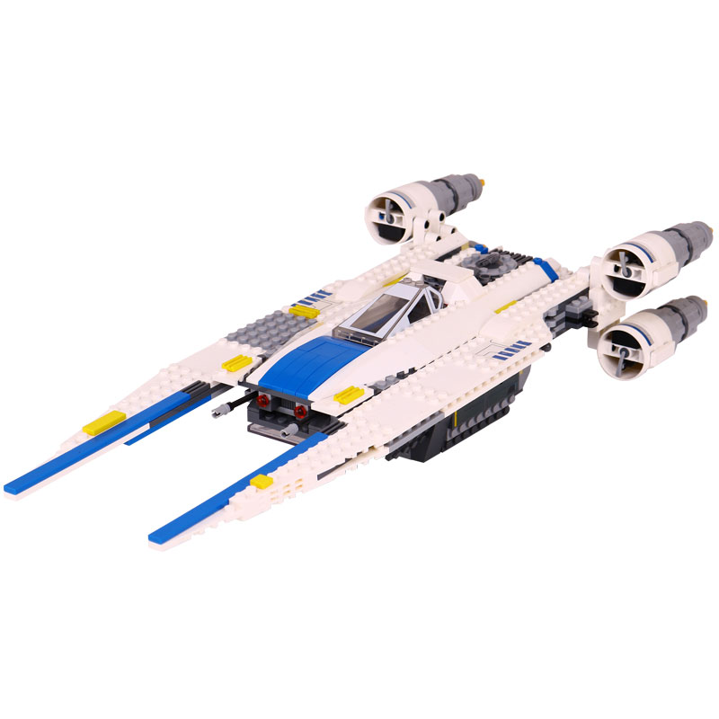 Star 679Pcs Wars Lepin 05054 The Story Fighter Set Building Blocks The Rebel U-Wing Bricks Toys for Children LegoINGlys 75155 конструктор lepin star plan истребитель повстанцев u wing 679 дет 05054