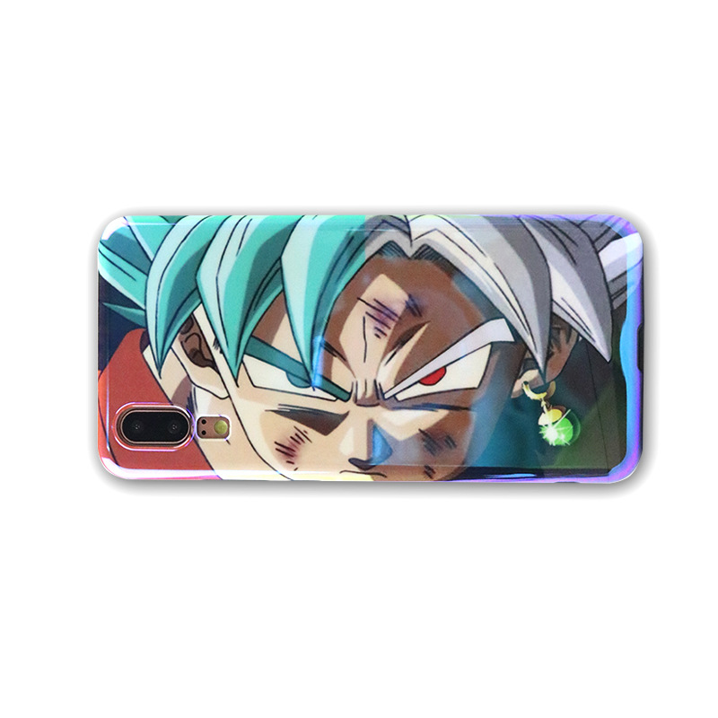 Applicable to iPhoneXs Max Blu ray Phone Case Cartoon Dragon Ball iPhone XS XR All inclusive Phone Case iPhone7 8plus Phone set in Fitted Cases from Cellphones Telecommunications