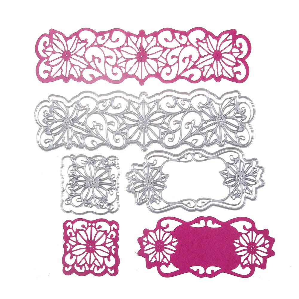Multi Layer Flower Banner Metal Dies Cutting Decorate ...