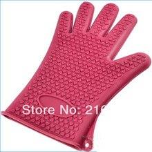 Мода Hot новых нехлопковых анти-скользят тепло-типа силиконовая перчатка пот держатель 4 выпечка кулинария