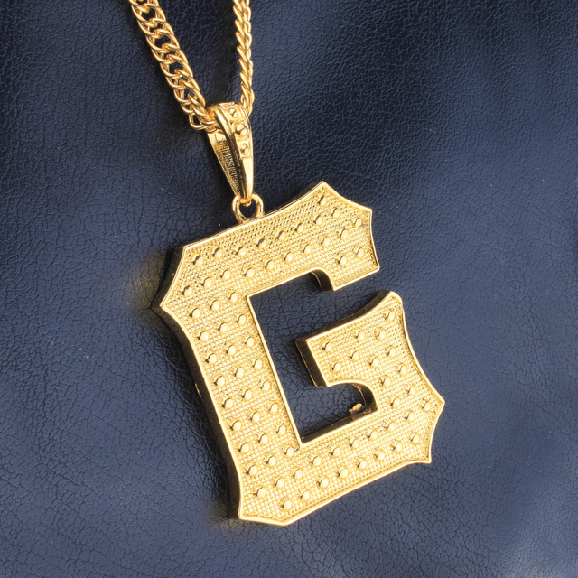New arrival iced out gold color letter g pendant hip hop necklace new arrival iced out gold color letter g pendant hip hop necklace for menwomen aloadofball Image collections