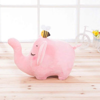 OCDAY Children Cartoon Bee Elephant Doll Bamboo Charcoal Kids Baby Plush Toys Home House Decoration Purify