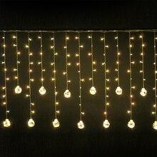 L2.5m светодиодный круглый мяч светодиодные занавески огни свадебное украшение огни рождество освещение участник украшения наружный водонепроницаемый IP46