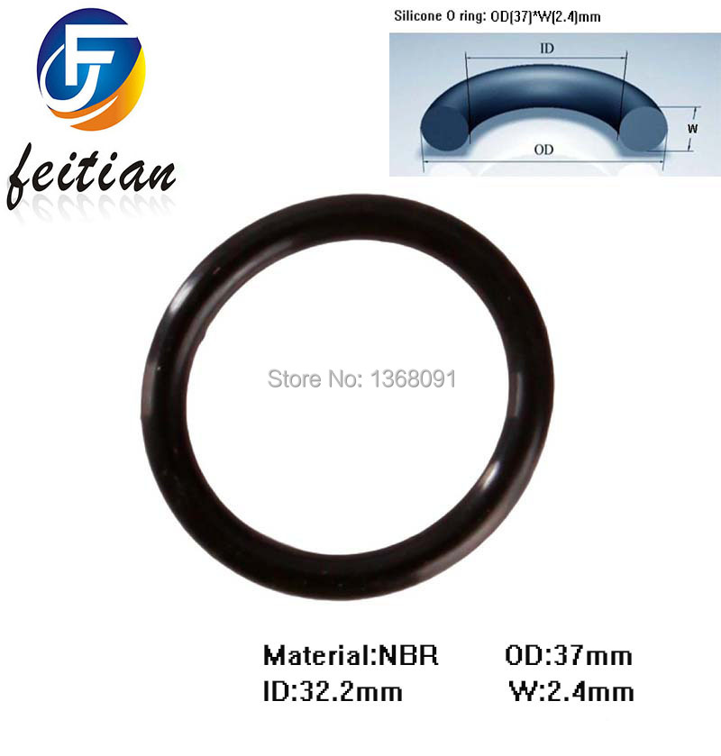 250piece 37mm*32.2mm*2.4mm BLACK NBR o rings silicone o ring ...