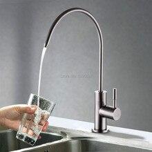 Бесплатная доставка Lead Free Напитков Кран Питьевой Воды Система Фильтрации 1/4-Дюймовый Трубки, Нержавеющая Сталь