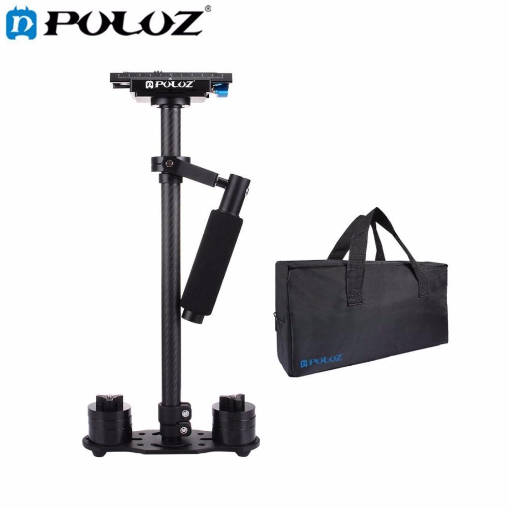 PULUZ S60T profesional portátil tubo de fibra de carbono Mini estabilizador de cámara videocámara DSLR estabilizador Steadicam