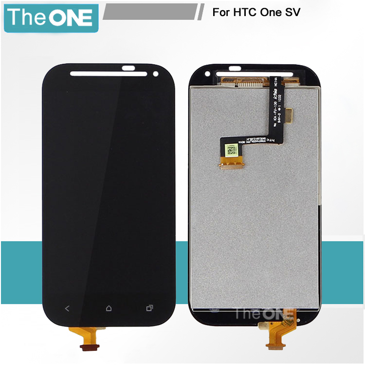 Black For HTC One SV C525e LCD Display Touch Screen with Digitizer Full Assembly Replacement Free shipping lcd screen display touch panel digitizer with frame for htc one m9 black or silver or gold free shipping