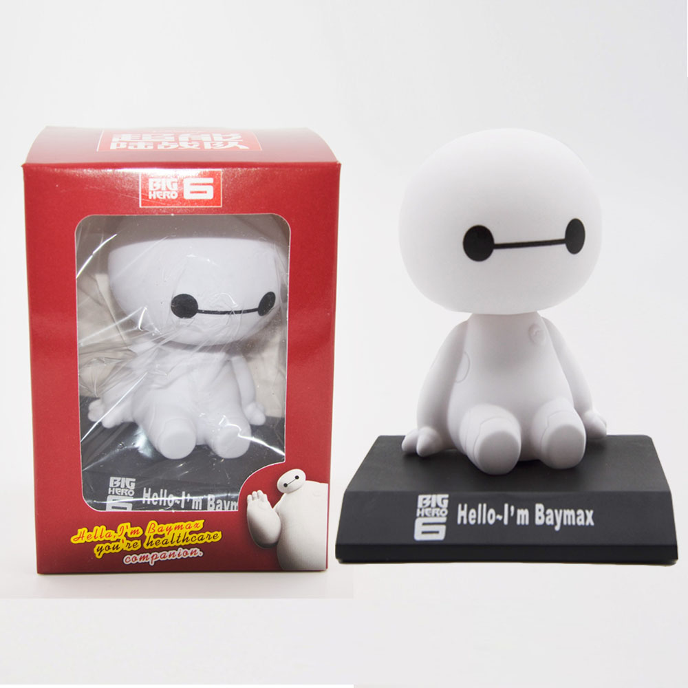 <font><b>Disney</b></font> Kids Hot Toys Cute Cartoon <font><b>Big</b></font> <font><b>hero</b></font> <font><b>6</b></font> White <font><b>Baymax</b></font> <font><b>Action</b></font> <font><b>Figures</b></font> Car Shaking Head Dolls Child Gifts Toys Ty838