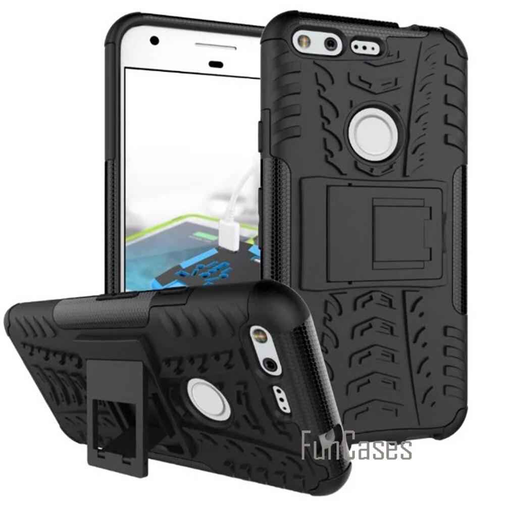 Para google pixel de nuevo caso plástico de silicona armor cubierta del teléfono