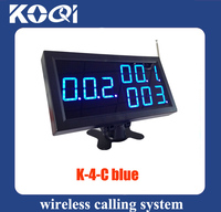 2pcs/pack Wireless calling number display receiver K-4-Cblue for restaurant hospital service equipment