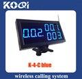 K 4 Cblue de récepteur d'affichage de numéro d'appel sans fil de 2 pcs/paquet pour l'équipement de service d'hôpital de restaurant|receiver|receiver wireless|  -