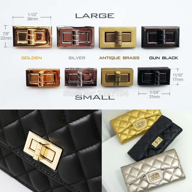 Rectangle Shape Turn Twist Lock Closure Catch Clasp Fasteners For Leather Bag Case Handbag Purse Leathercraft