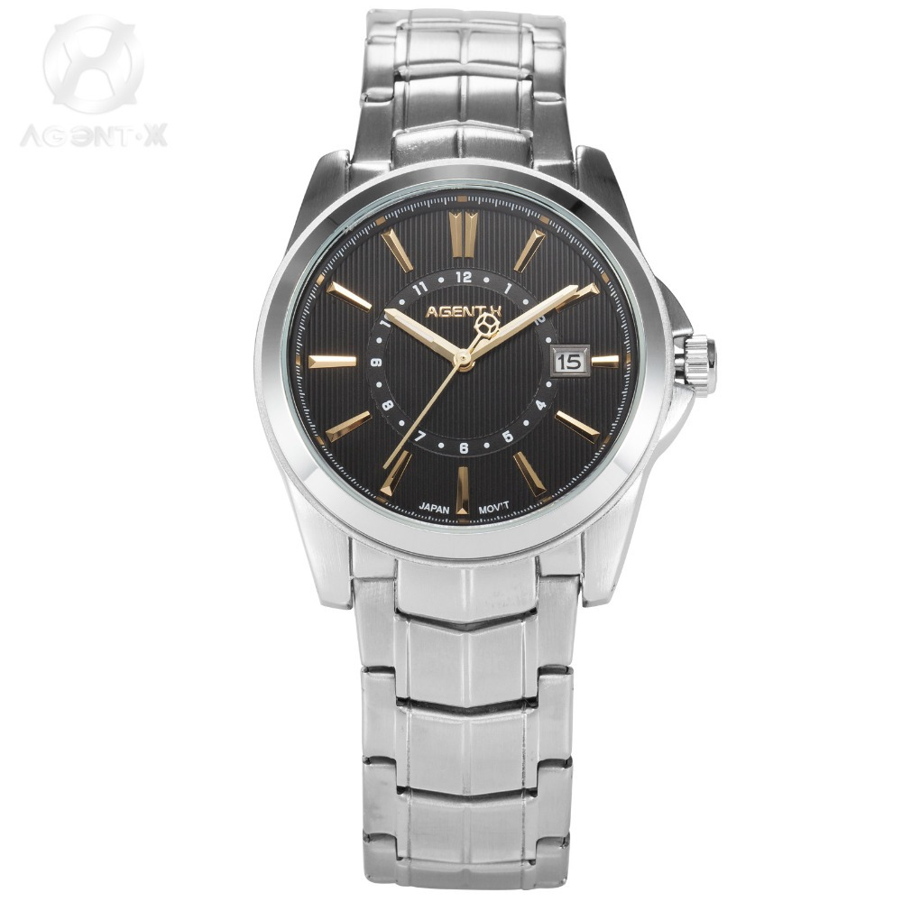 popular x men watches buy cheap x men watches lots from x agentx luxury men watches black gold date display silver full steel band movement quartz