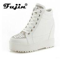 Fujin Brand 2017 Summer High Sole Increased Autumn Women Wedge Shoes Breathable Platform Pumps Wedges Heel