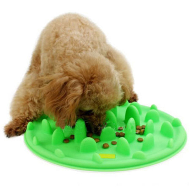 2016 Free Shipping Pets Feeding Supplies Dog Cat Silicone Feeder Travel Pet Bowl Dish 3 colors Environmental food bowls Eat Tool