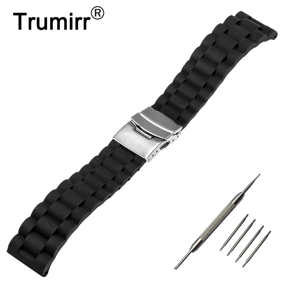 Silicone Rubber Watch Strap 22mm for LG G Watch W100 W110 Urbane W150 Moto 360 2 46mm 2015 Asus Zenwatch 1 2 Resin Band Bracelet 22mm stainless steel watch band smartwatch strap bracelet for lg g watch w100 w110 urbane w150 asus zenwatch 2 pebble time steel