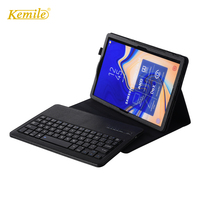 Kemile For Samsung Galaxy Tab S4 10.5 T830 T835 Case Bluetooth Keyboard Leather Stand SM T830 SM T835 Cover Russian Keyboard